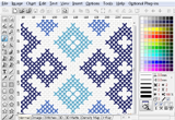 Pattern created in Embird Cross Stitch
