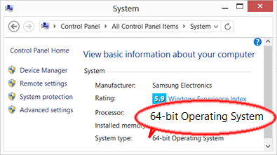 Windows - operating system type