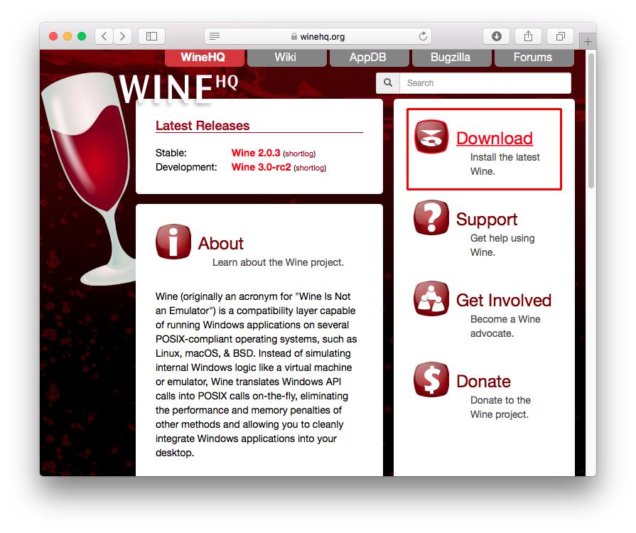 Wine перестал работать mac
