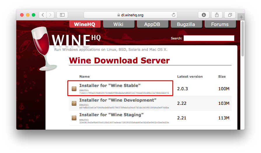 Installing Wine on Apple Mac