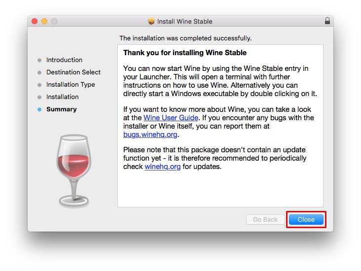 Installing Wine on Apple Mac