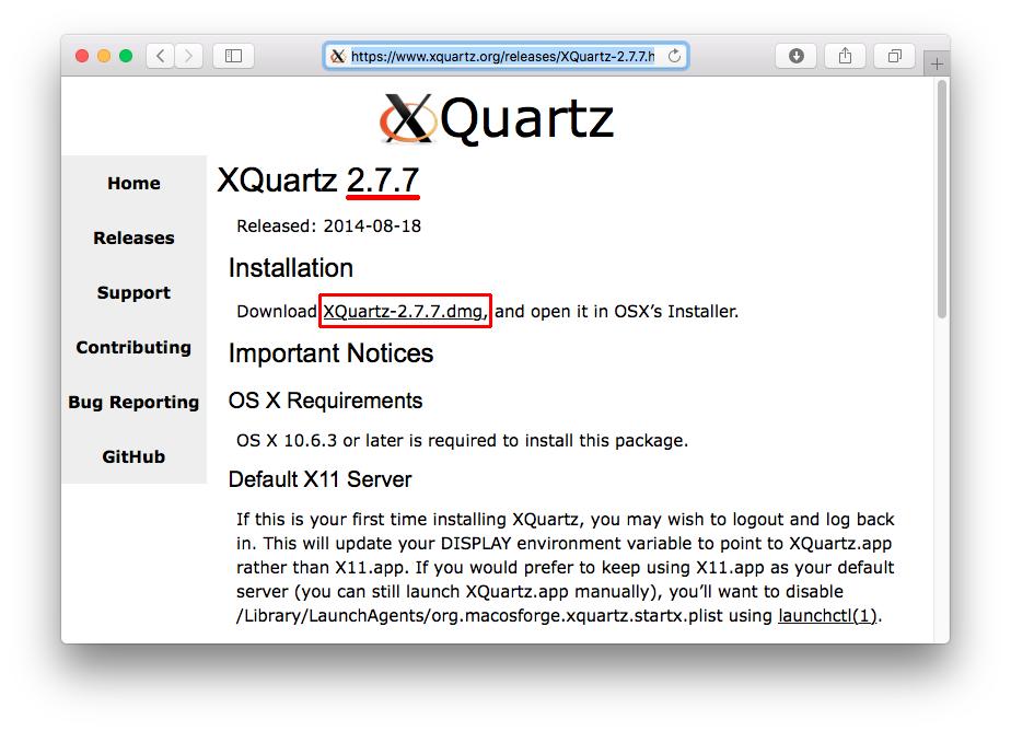 xquartz 2.7.7