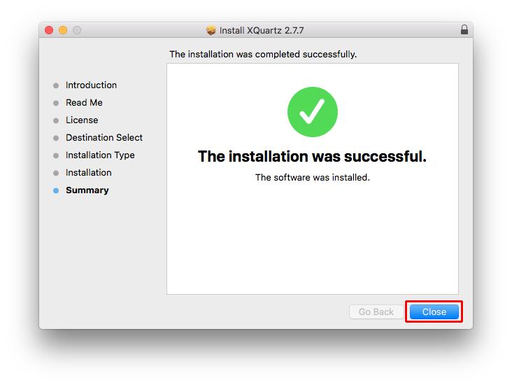Installing XQuartz on Apple Mac