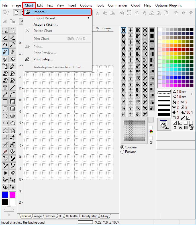 Cross Stitch - Importing Chart